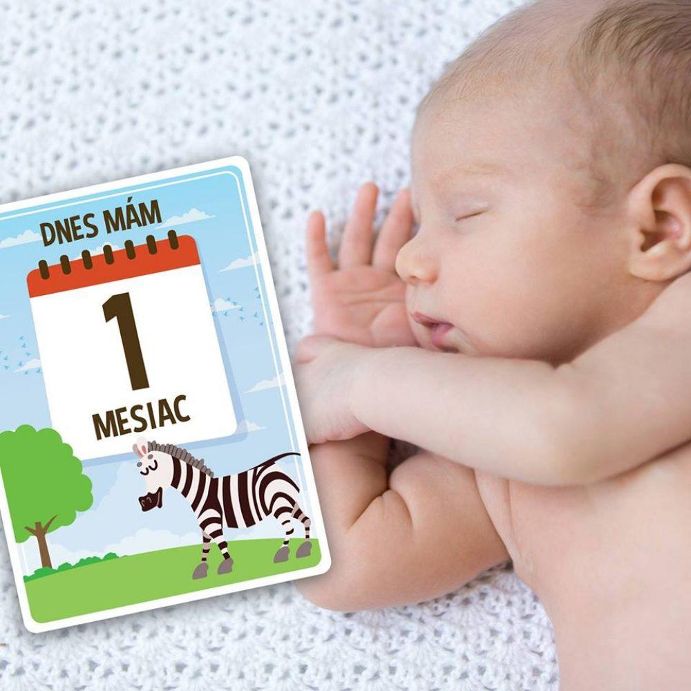 Míľnikové kartičky pre prvý rok dieťatka
