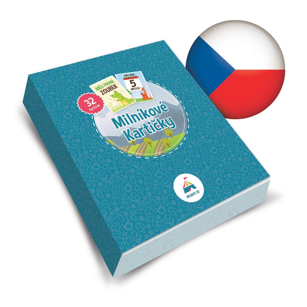 Mílnikové kartičky sú dostupné v slovenskej aj českej verzii