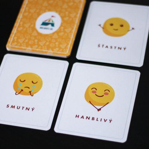 Výhodný set: Edukačné kartičky - tvary a emócie