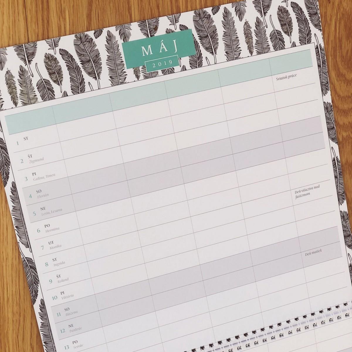 Rodinny planovaci kalendar 2019